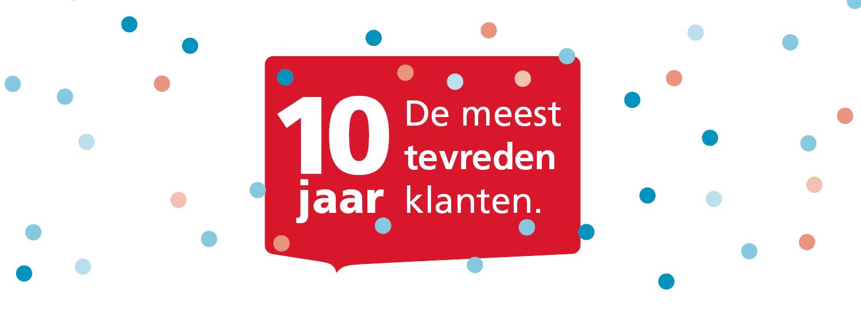 10 jaar de meest tevreden klanten