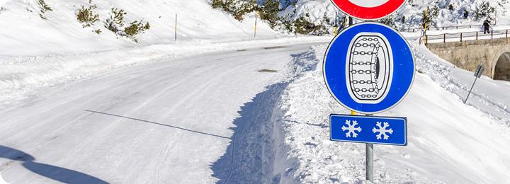 sneeuwketting bord