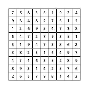 uitkomsten sudoku