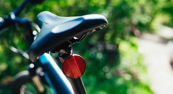 fiets met achterlicht