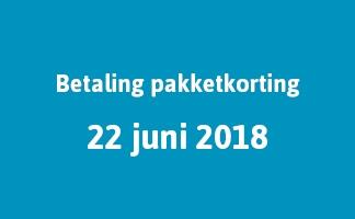 Betaling pakketkorting 22 juni 2018