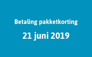 Betaling pakketkorting 21 juni 2019